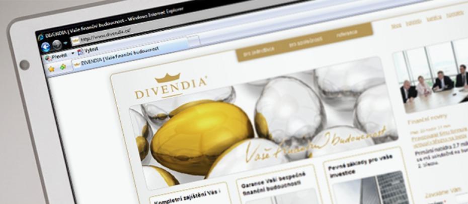 Divendia - homepage