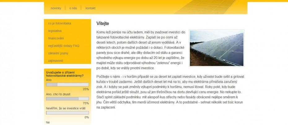 Fotovoltaické systémy Maxisun - homepage
