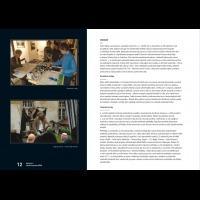 Vnitřní strana výroční zprávy pro galerii fotografie Galerie 4